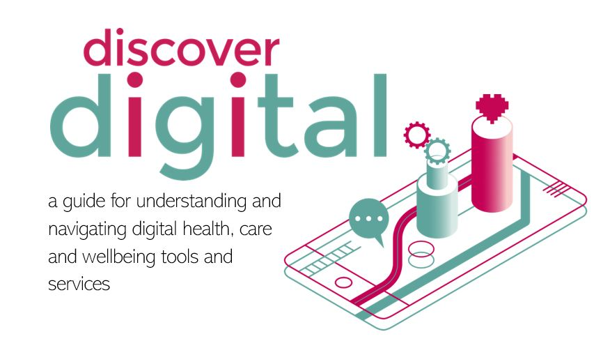 Guide title page: Discover Digital guide to understanding and navigating digital health and care tools and services