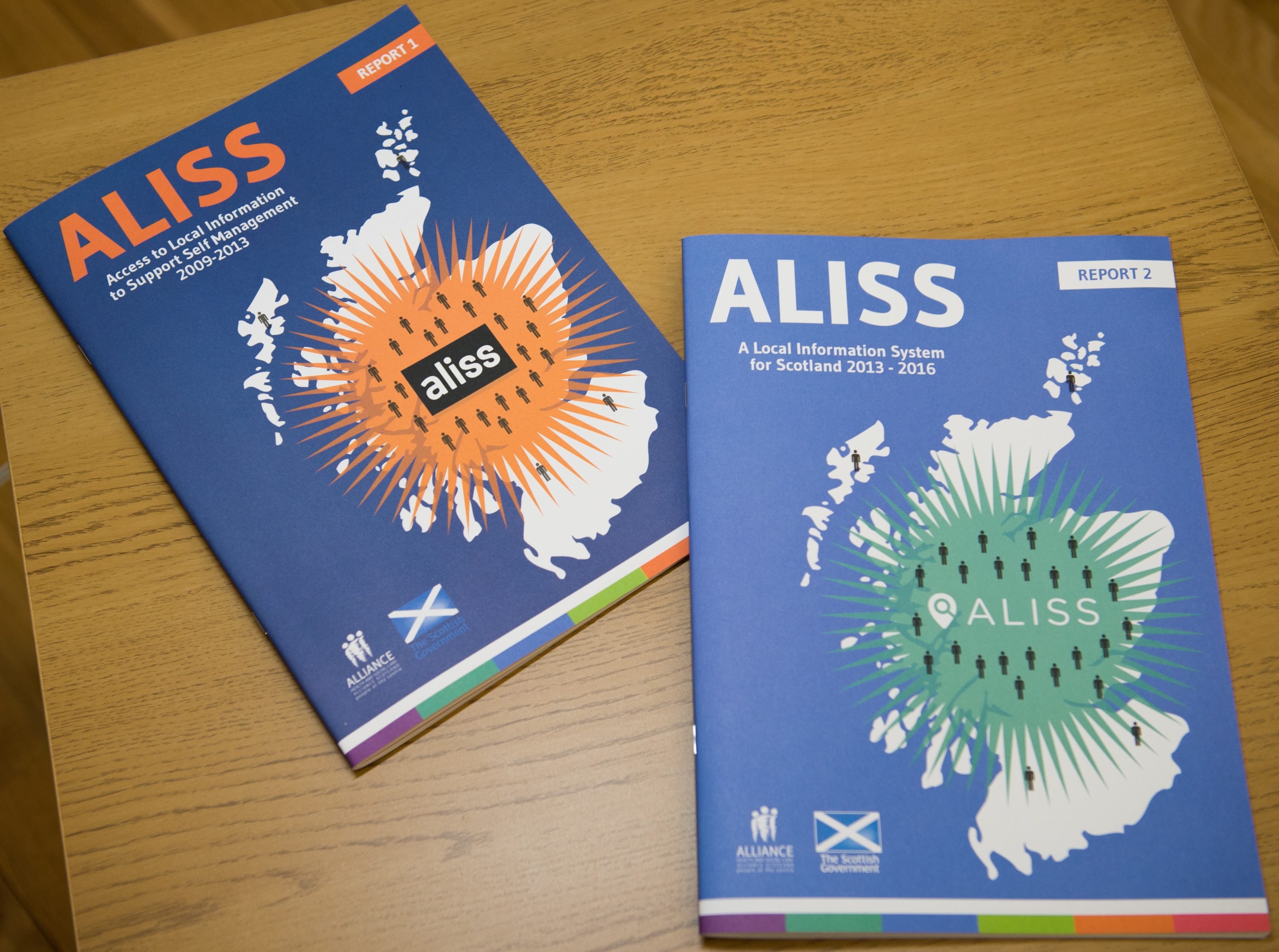 Picture of two reports, telling the history of ALISS - ALISS report 1 and ALISS Report 2