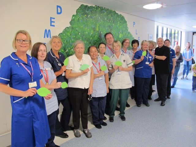 Tommy and Colchester Hospital team pledge tree