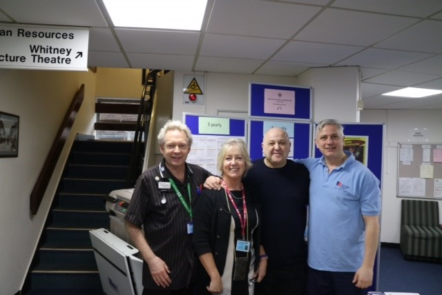Poole hospital team with Tommy