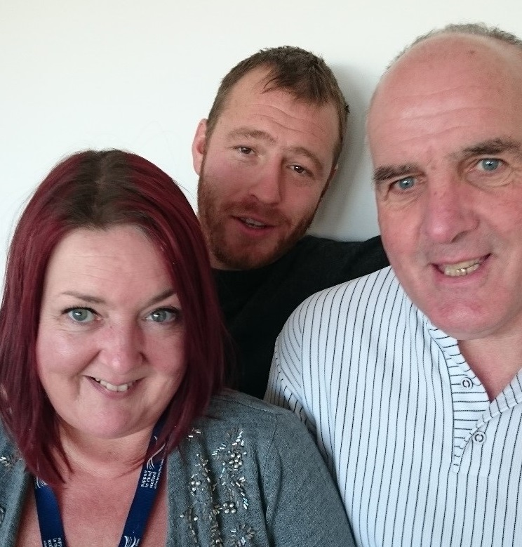 From left Photograph of Wendy, Ben and Rob from Support in Mind Scotland