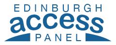 Edinburgh Access Panel members logo