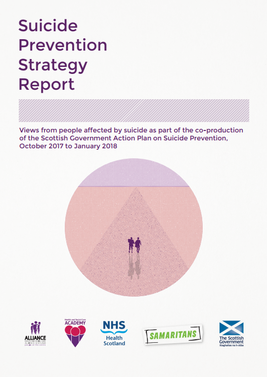 Front cover of the Health and Social Care Academy's report on suicide prevention