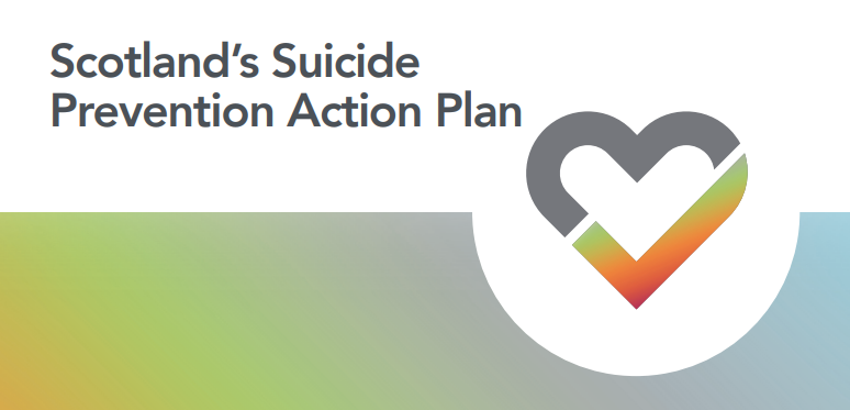 Image of the front cover of the Scottish Government's Suicide Prevention Action Plan