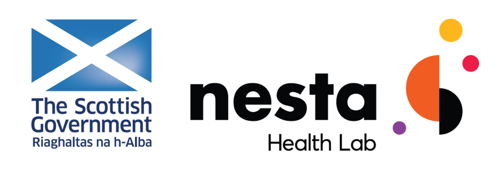 Scottish Government and nesta Health Lab logos