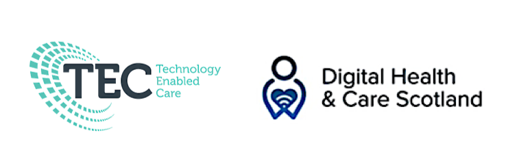 Logos of Technology Enabled Care and Digital Health and Care Scottish Government Divisions