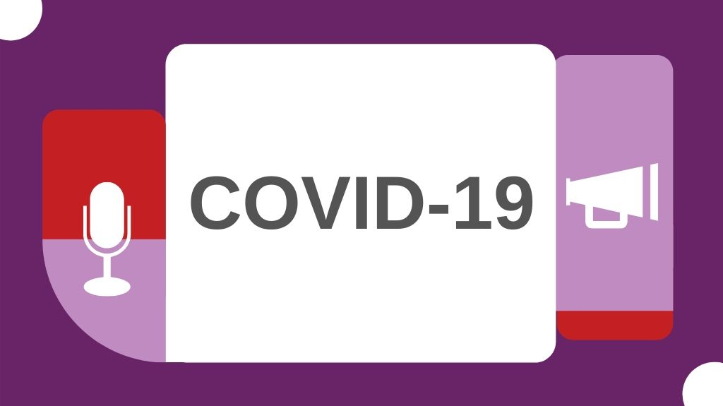 image with COVID-19 written on it