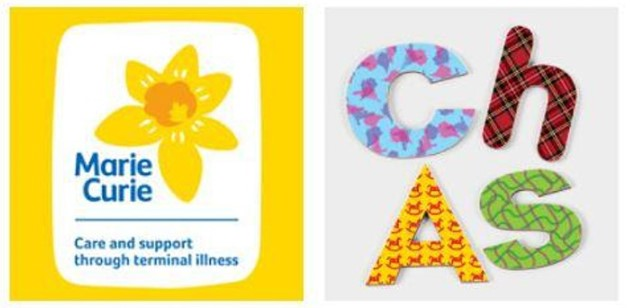 Marie Curie and CHAS logo