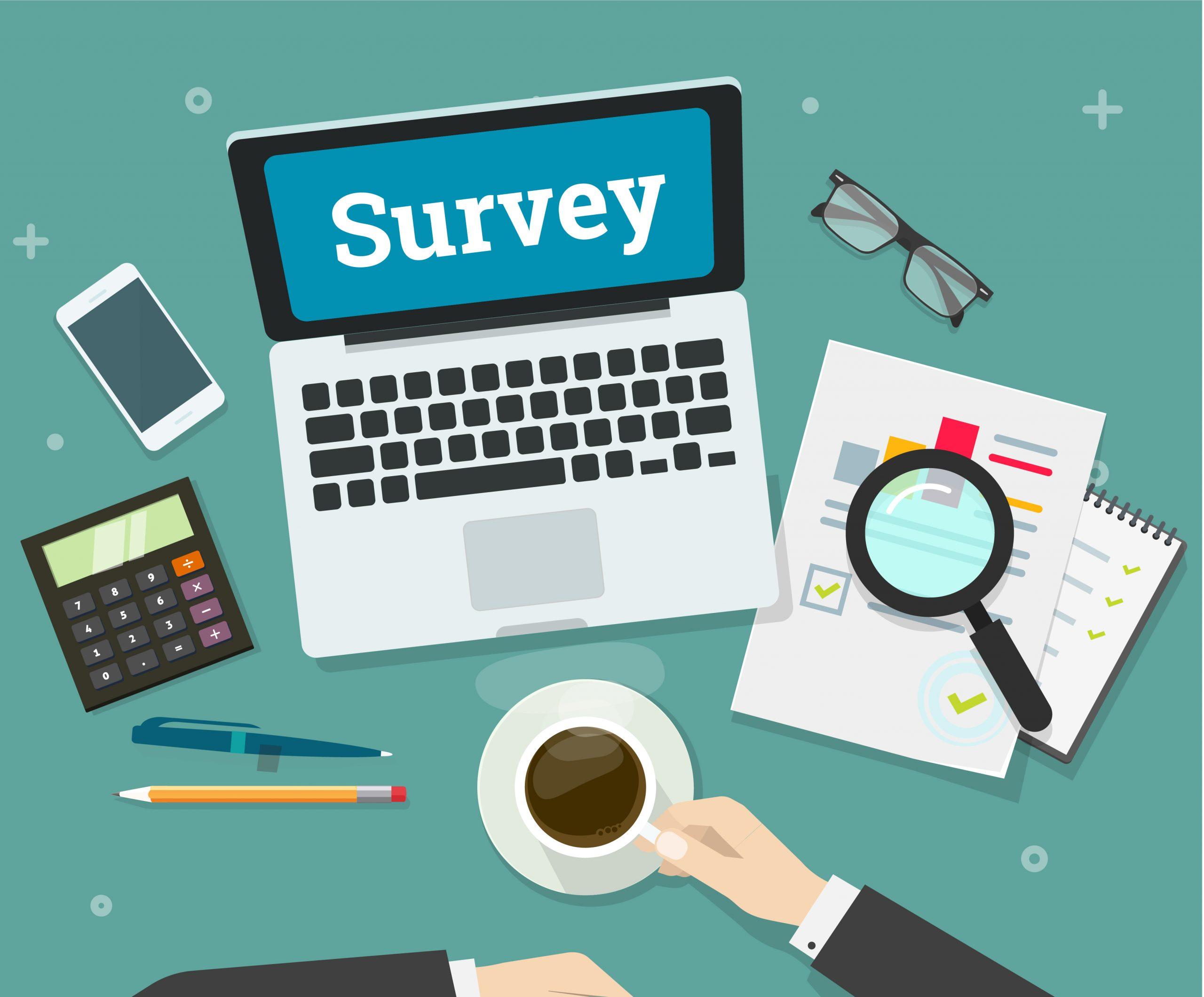 Survey on laptop